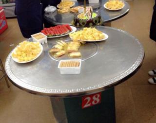 Mặt bàn tròn bếp nướng